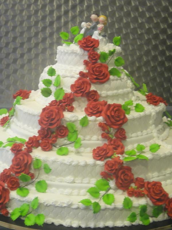 Amerikaanse bruidstaart 50 personen